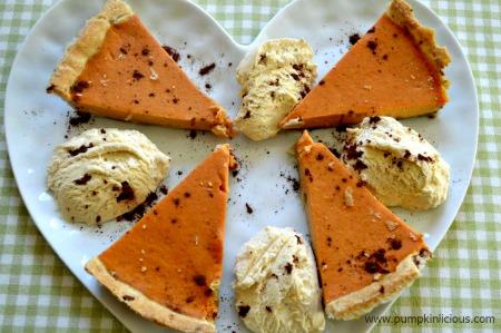 Diabetic Pumpkin Pie with Ice Cream