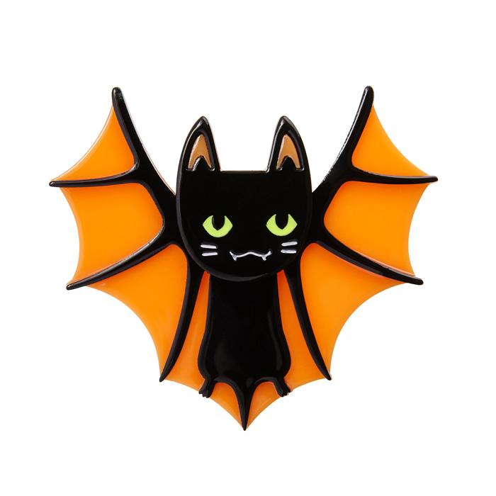 Erstwilder Bat Cat Brooch Halloween
