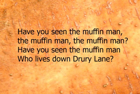 Have you seen the Muffin Man Rhyme