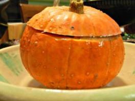 golden nugget stuffed, dinner in a pumpkin