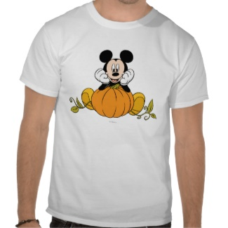 Mickey Mouse Pumpkin Tshirt