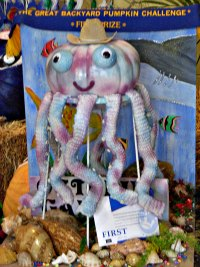 octopus pumpkin decoratio