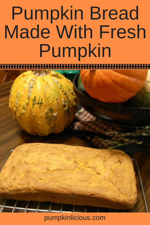 This easy to make savory fresh pumpkin bread recipe is not only simple to make, but it's also healthy. Perfect with warm soup, or just toasted with butter. Delicious!