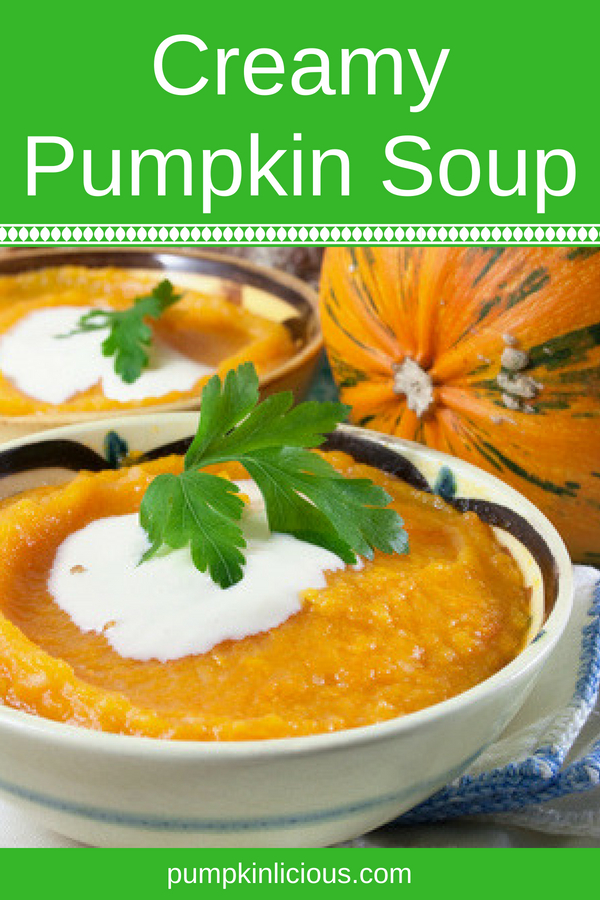 Need an easy to make healthy soup recipe to make for your family? This creamy pumpkin soup is the perfect fall comfort food for even the pickiest eaters. As always, pumpkin can be replaced by butternut squash if that's all you have. For a vegan version of this soup, make some cashew sauce to replace the cream: delicious!