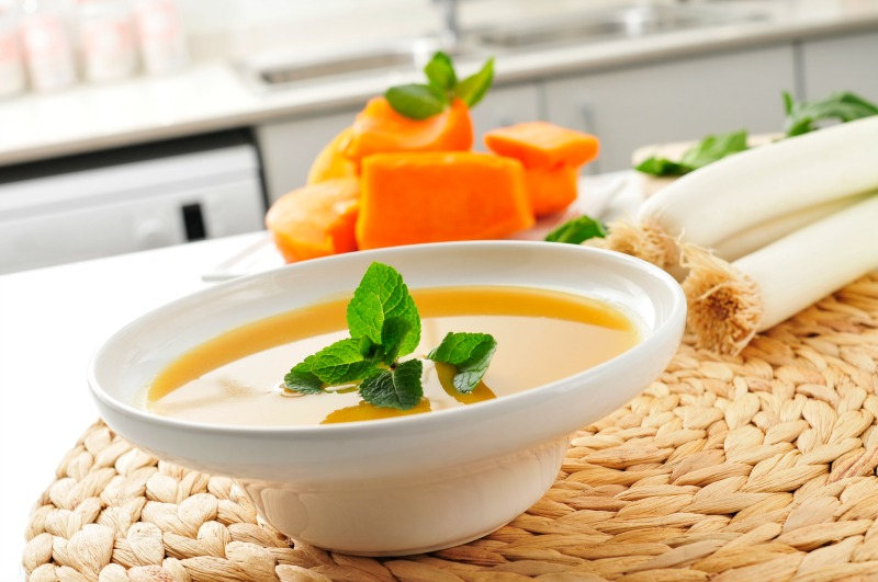 Pumpkin and leeks soup