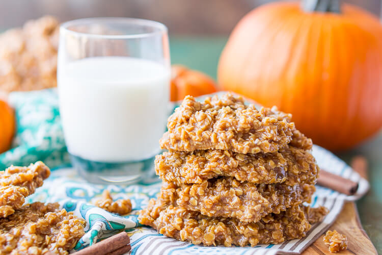 Pumpkin No Bake Cookies