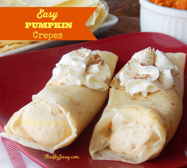 Easy pumpkin crepes