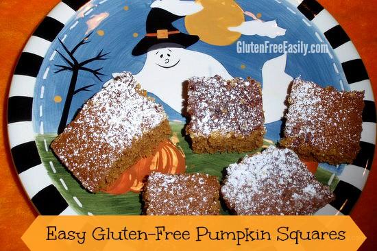 Gluten free pumpkin squares