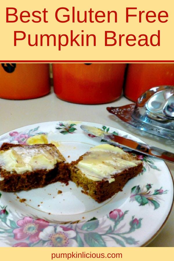 Easy gluten free pumpkin bread #glutenfree #pumpkinbread #fallrecipes #recipe #pumpkin #lowcarb #grainfree #Thanksgiving