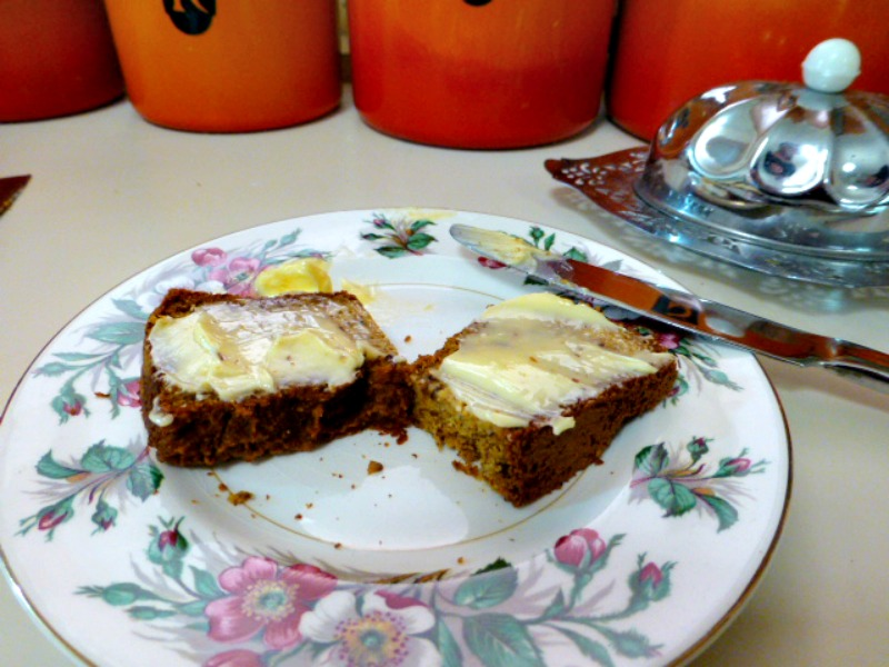 Gluten free bread with butter