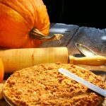 homemade pumpkin pie with fresh pumpkin