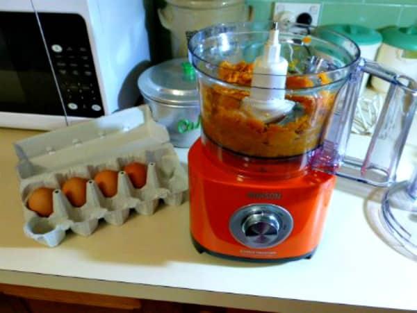 Orange food processor (mixer)