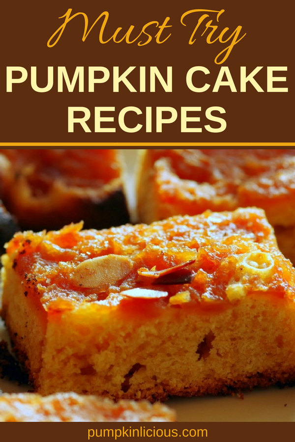 Perfect for the fall season, these homemade pumpkin cake recipes are easy to make, moist, and so yummy! Really, they are the best autumn treats ever. #pumpkincake #pumpkinrecipes #fallrecipes #thanksgivingrecipes #thanksgiving #recipes #deliciousfood