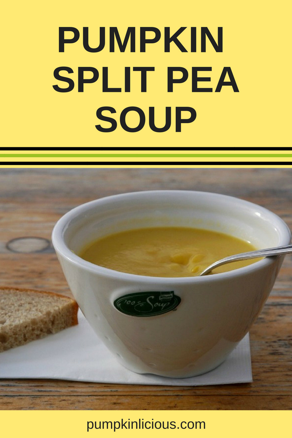 It's soup time, and this easy to make, creamy pumpkin and split peas soup is perfect for a chilly night in. Add some curry to spice it up if you wish, or roast the pumpkin first for a deeper taste. #pumpkinsoup #pumpkinlicious #soup #fallrecipes #souprecipes #recipes