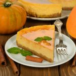 Pumpkin ginger cheesecake with caramel icing