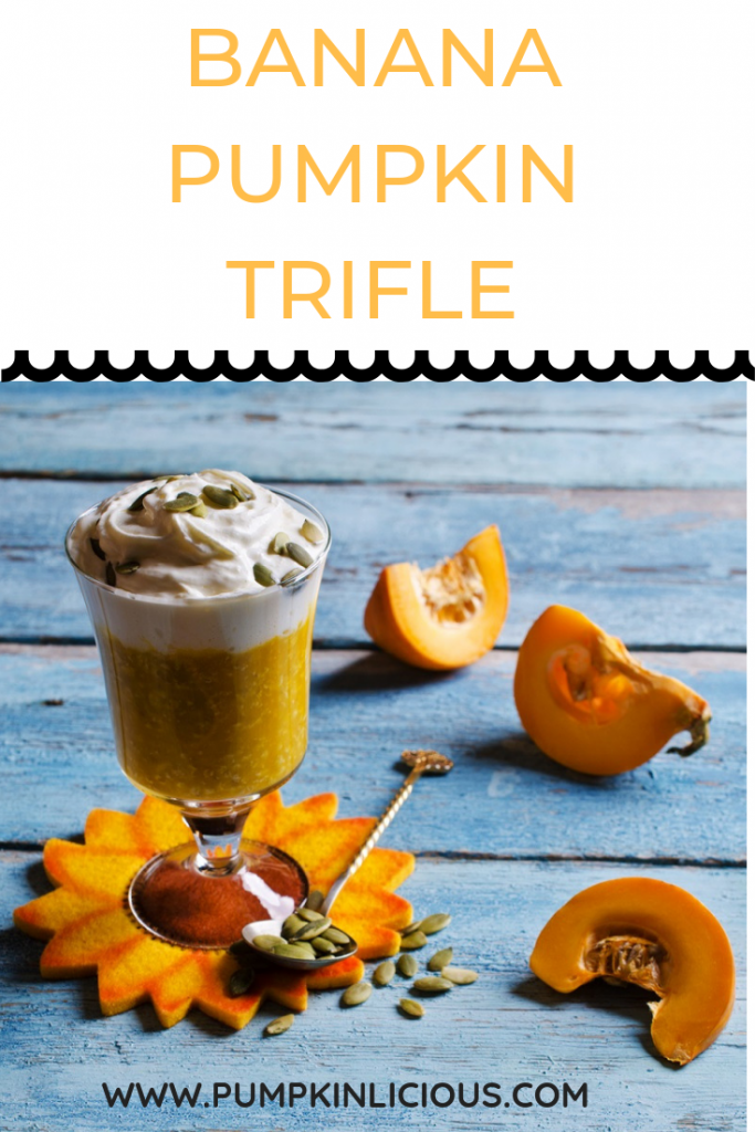 Pumpkin trifle with banana