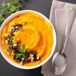 Mashed pumpkin side dish