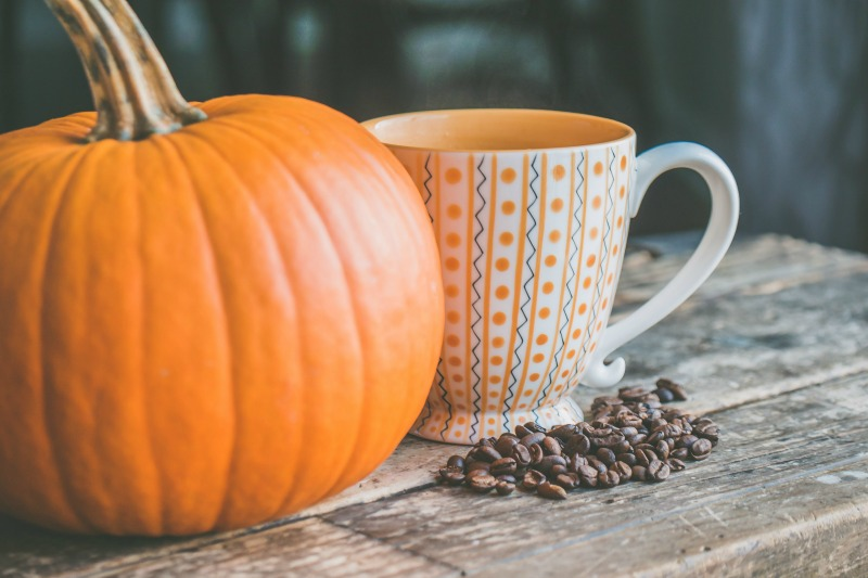 Pumpkin and coffee mug