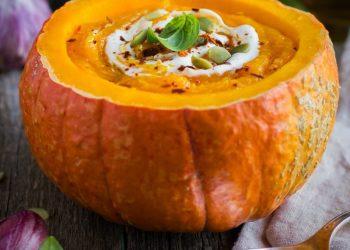 Pumpkin Soup In A Pumpkin Recipe For Fall