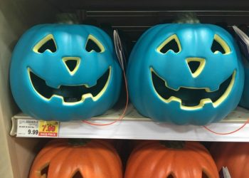 Teal pumpkins for sale at Target