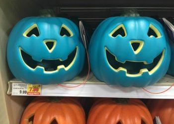 Teal pumpkins for sale at Target