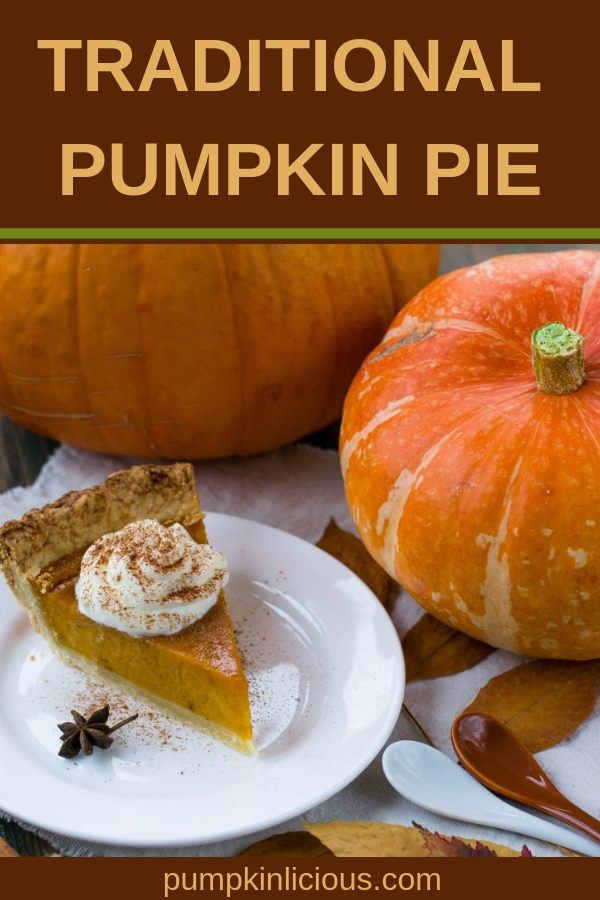 This homemade traditional pumpkin pie recipe is easy to make, and everyone loves it! You can make it crustless, and eat the filling in a cup as a mousse, to use graham crackers crust if you wish. Delicious! #homemadepie #pumpkinpie #thanksgiving #holidaypies #recipes #pumpkinlicious #pumpkinrecipes #pumpkin #fallrecipes