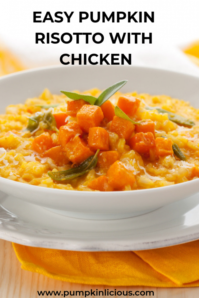 EASY PUMPKIN RISOTTO WITH CHICKEN RECIPE