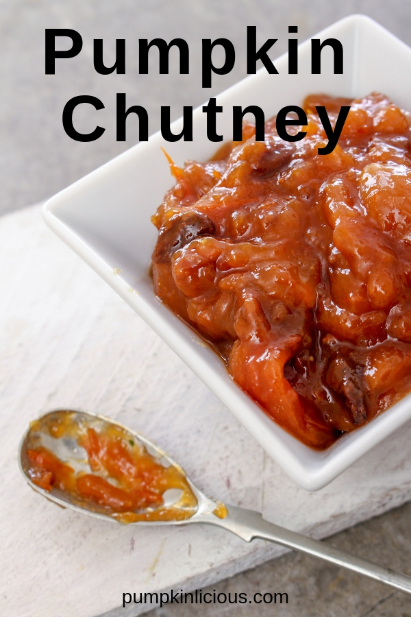 This easy pumpkin chutney recipe is a must try! You'll have a new favorite fall recipe you can treat yourself with. Serve it with cold meats, sausages, hamburgers, cheese, sandwiches, curries, and salads. You can practically spread it on everything! #chutney #pumpkinchutney #pumpkinrecipes #pumpkin #pumpkinlicious