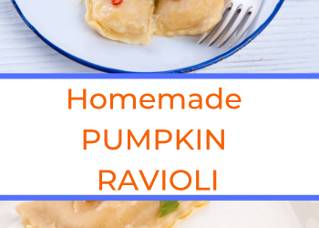 homemade pumpkin ravioli