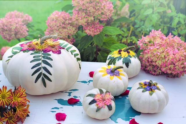 white pumpkin decor ideas