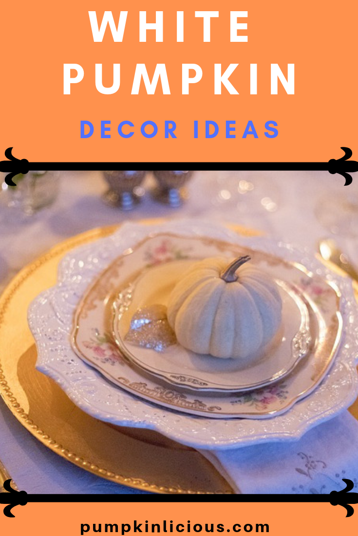 White pumpkin decoration ideas