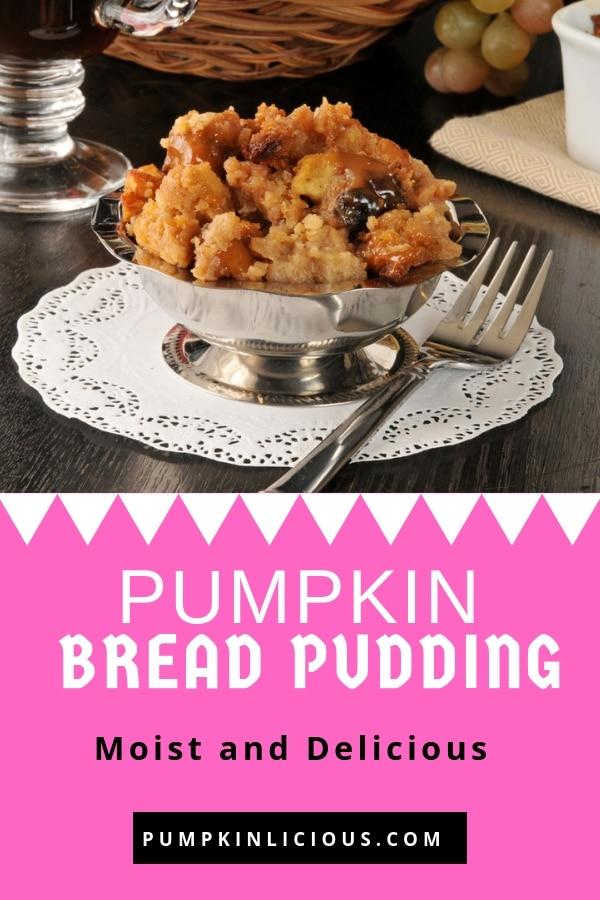pumpkin bread pudding easy