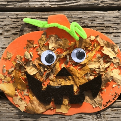 fall pumpkin leaf craft