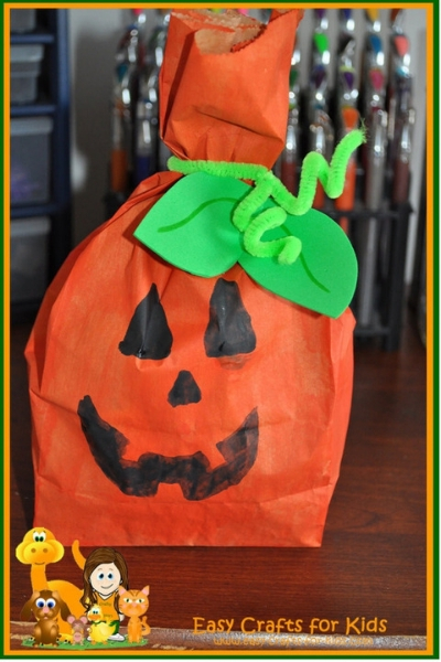 halloween pumpkin treat bag