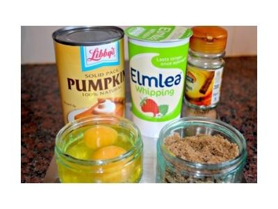 pumpkin custard ingredients