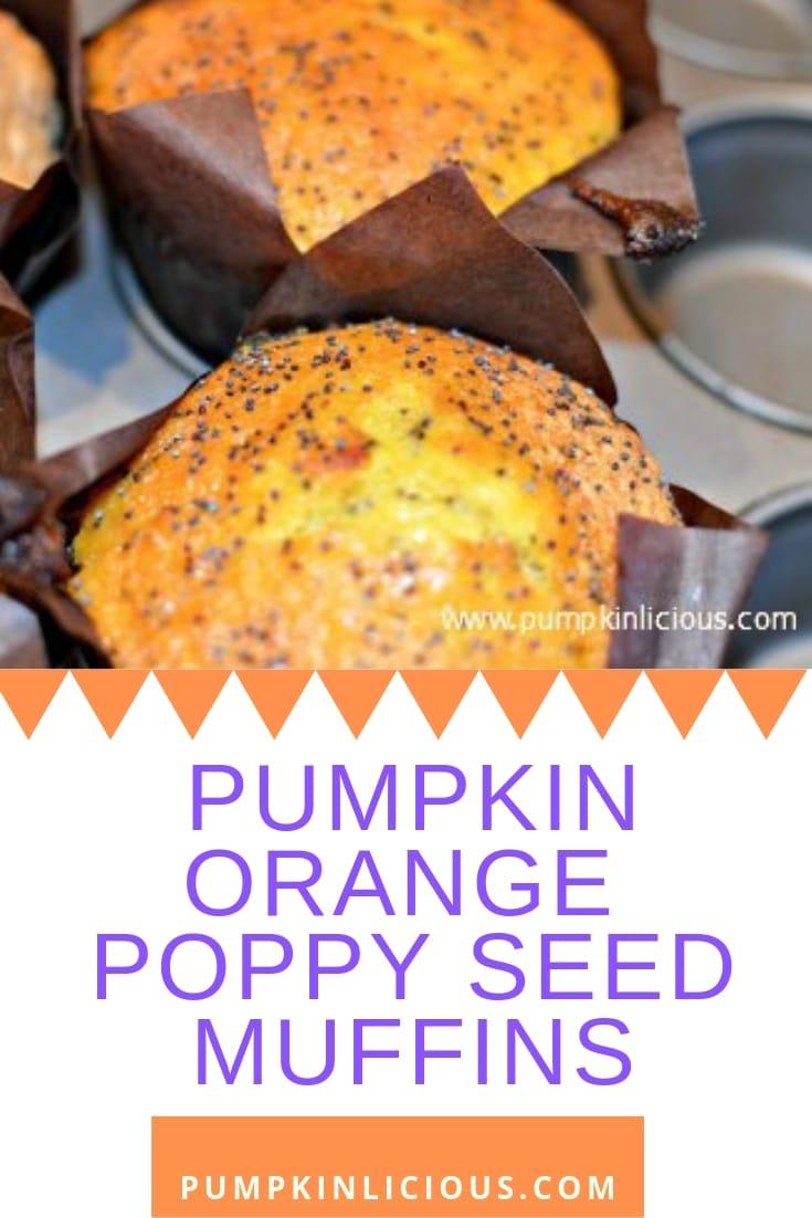 pumpkin orange poppy seed muffins