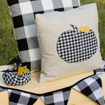 pumpkin pillow applique