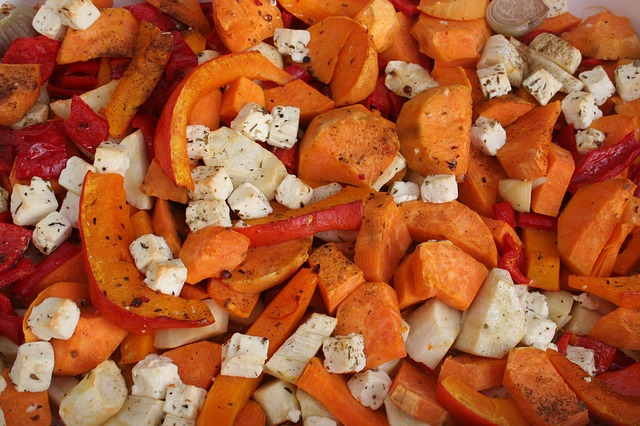 baked pumpkin with vegetables