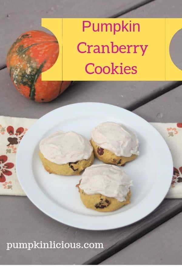 pumpkin cookies with cranberries