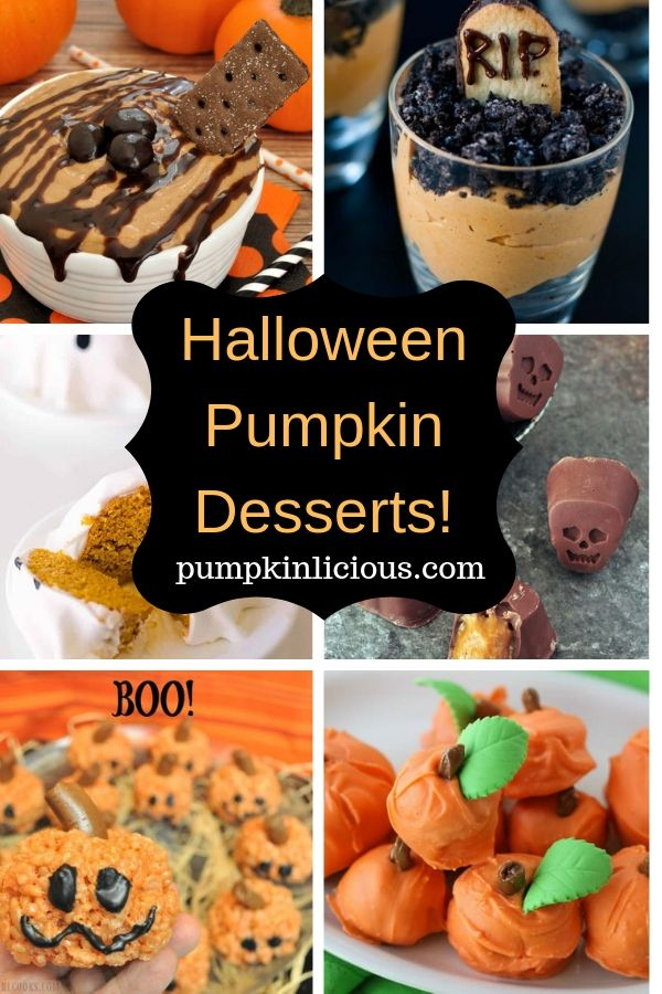 Pumpkin Halloween Desserts Ideas