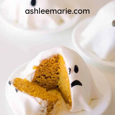 ghost pumpkin cupcakes