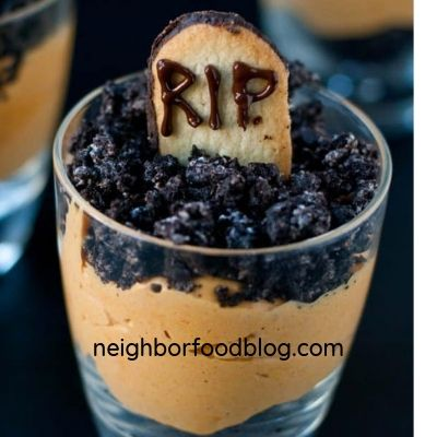 halloween pumpkin parfaits