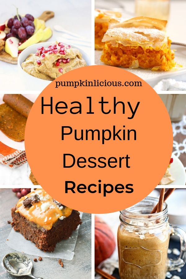healthy pumpkin dessert recipes