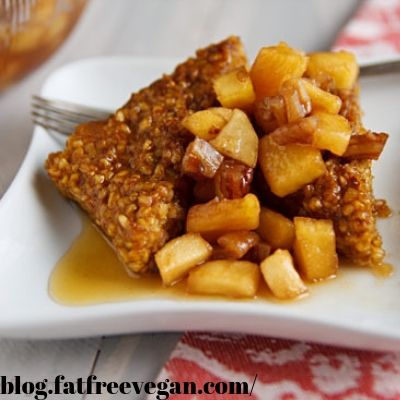pumpkin oat cakes with apple compote