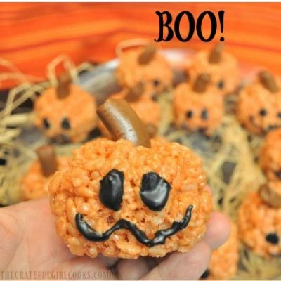 rice krispie pumpkin treats