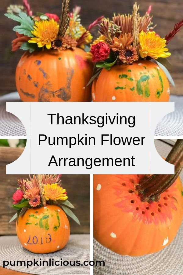 thanksgiving pumpkin flower arrangement
