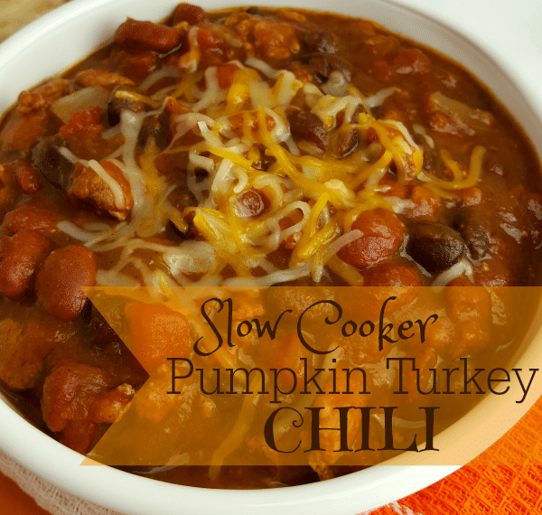 Slow Cooker Pumpkin Turkey Chili Recipe
