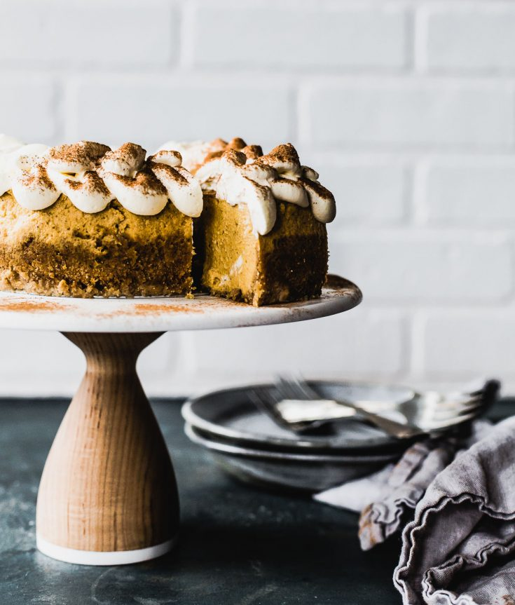 Instant Pot Cardamom Pumpkin Cheesecake