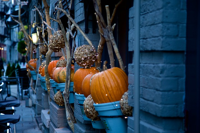 great outdoor pumpkin decorations