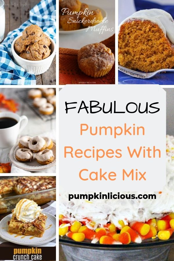 pumpkin recipes with cake mix